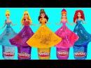 Поделки из пластилина Play-Doh Куклы Принцессы Диснея. Делаем наряды из Плей До для Принцесс