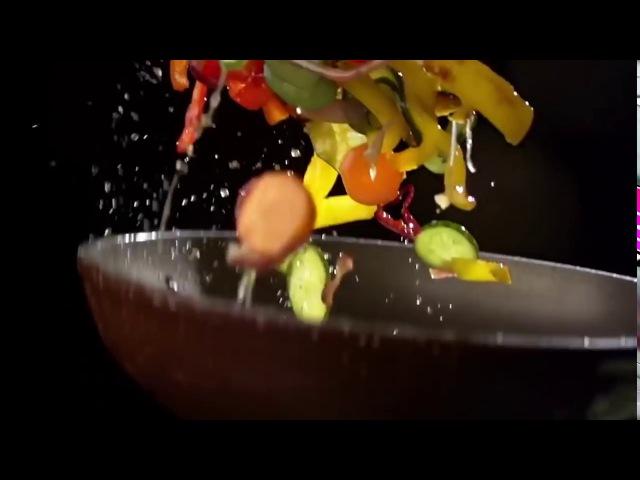 Клип макросъёмка красивое приготовление еды