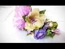 DIY DIY Ободок с цветами канзаши из лент часть 2 flowers of the tapes kanzashi