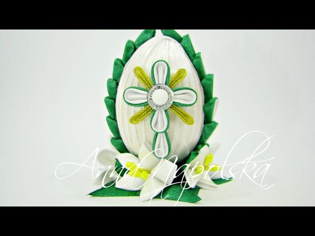 Великодня писанка канзаши. Пасхальное яйцо. Easter egg. Jajko Wielkanocne