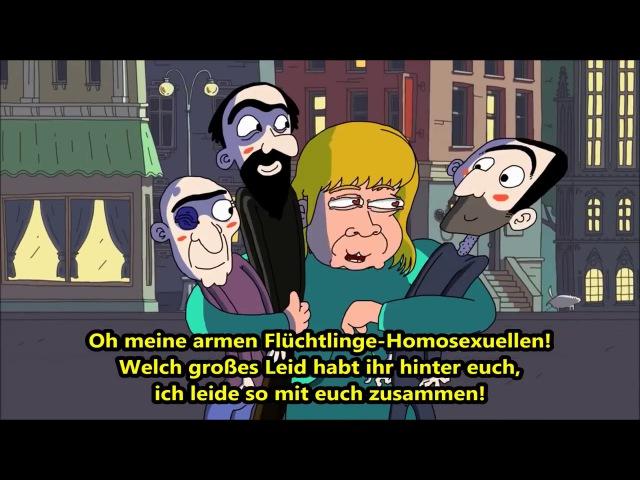 Wie die Russen Merkel sehen Satire