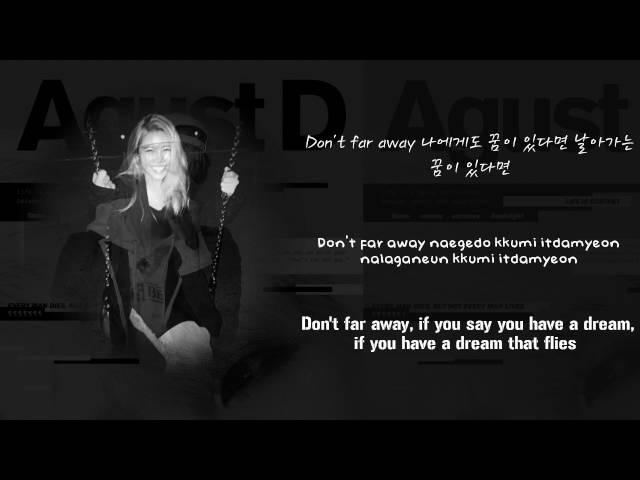 BTS Suga (AGUST D) - So Far Away ft. Suran [Lyrics Han|Rom|Eng]