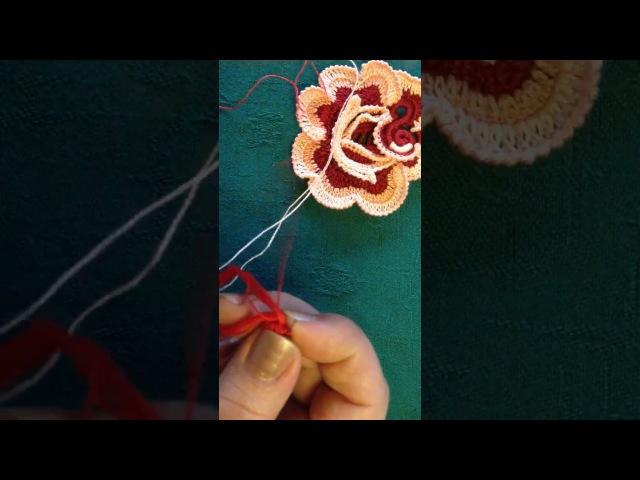 VIDEO Nº15/1 CROCHET IRLANDES CENTRO DE ROSA