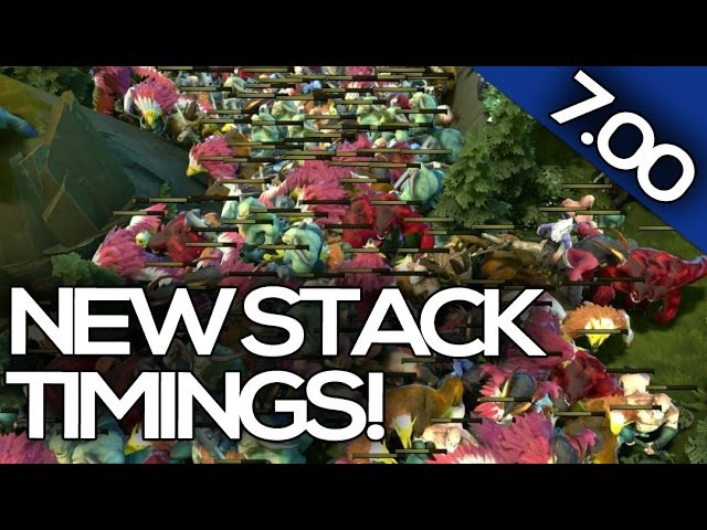 7.00 PATCH UPDATE Dota 2 - ALL NEW STACK TIMINGS!