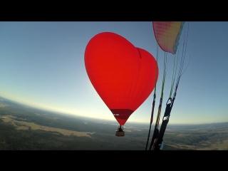 Полёт Сердца, Весна, Красноярск. Романтика на Воздушном шаре.
