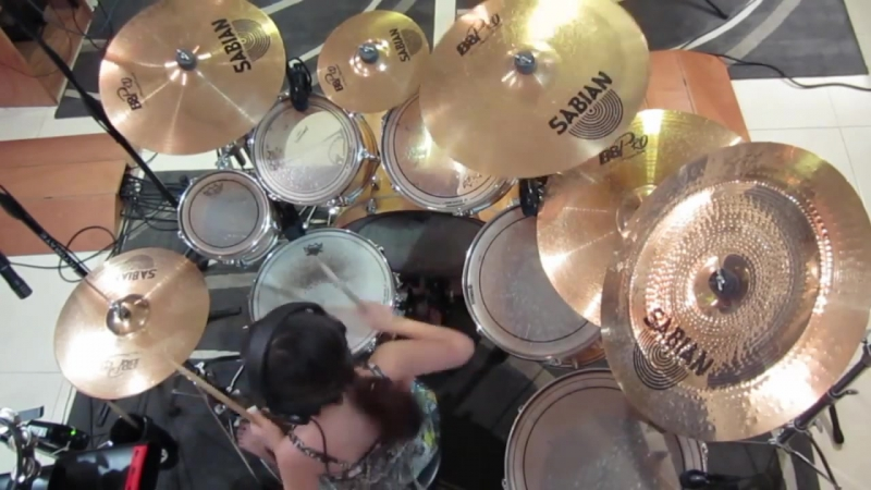 10 Year Old Girl Drummer Paulina From Mexico My Life Would Suck Cobus Version 720p