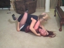 catfight - Classic Leg Locked Catfights in skirts and dresses