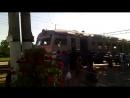 ЕР9М-506 прибывает на станцию Миргород
