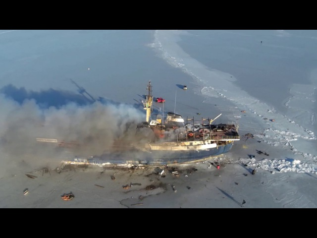 Freex skyview. Владивосток ,пожарТеплоход Yeruslan ;) ВАНДАЛИЗМ