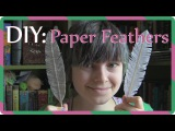 DIY  Paper feathers  G