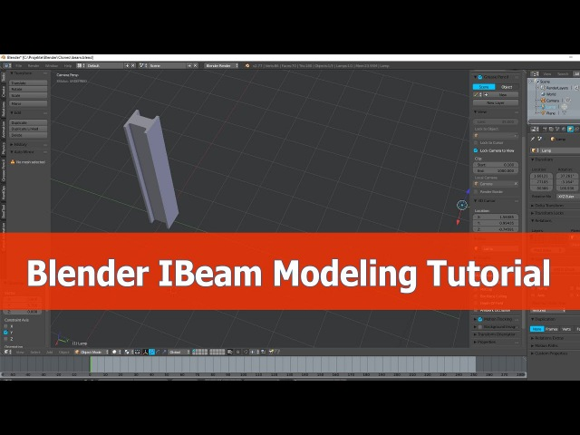 Blender IBeam Modeling with Mirror Modifier