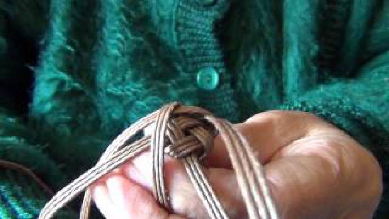 石畳編みの取っ手ひも