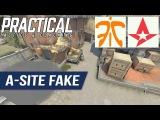 CSGO Tactic  -  Fnatic vs Astralis  -  De_Inferno A-site Fake &amp B-site Take  @ IEM Katowice 2017