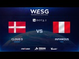 [RU] Cloud 9 vs Infamous, Game 1, 1/2, 2016 WESG Dota 2 Grand Final presented by Alipay