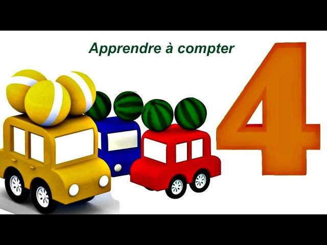 Dessin animé en français pour enfants de 4 voitures: accident de la route