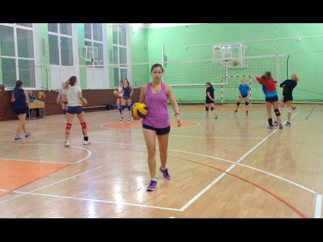 Волейбол Тренировка новичка Мария Жаркова