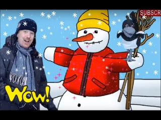 Build a Snowman with Steve | English for Kids | English for Children