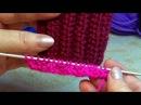 Вязание спицами. Узор французская резинка 1 вариант 11