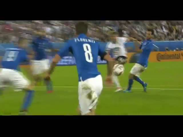 Unbelievable save from florenzi Italy germany euro 2016