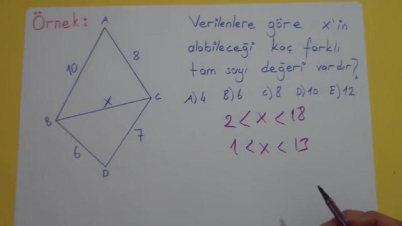Geometri konu anlatımı - açı kenar bağıntıları