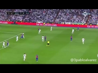 Как Месси разгонял атаку и забил гол Реалу.
