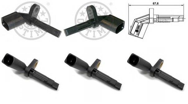 Датчик, частота вращения колеса для AUDI A5 кабрио (8F7)