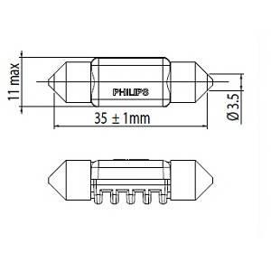 Лампа накаливания; Лампа, страховочное освещение двери для AUDI A5 кабрио (8F7)