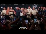 Битва Взглядов: Нейт Диаз vs. Конор МакГрегор 2. | UFC 202_ Nate Diaz vs. Conor McGregor Staredown [Рифмы и Панчи]