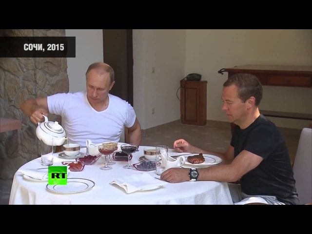 Владимир Путин выпил чаю в Ясной поляне