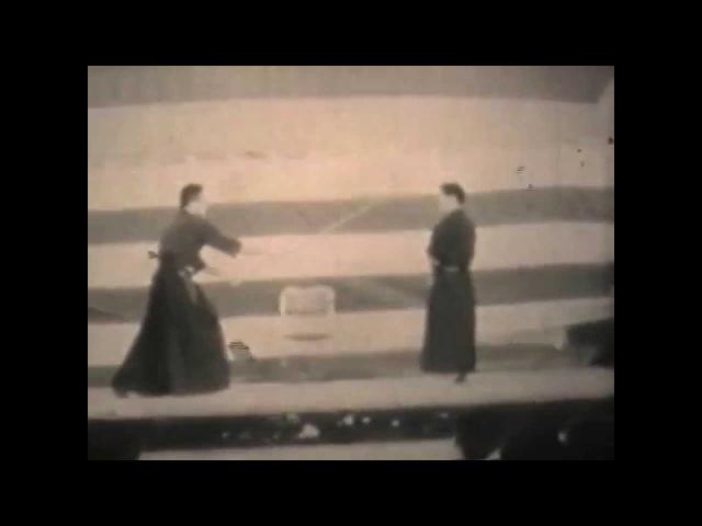 Shimizu Takaji and several others circa 1950's featureing Hiroi Tsuneji Sensei
