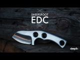 Making a knife. A fixed blade, Sheepsfoot EDC knife FTW (5 knives in 5 days)