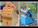 Upcycle an Old Knife Block into a DIY Crayon Holder - Easy DIY Crafts Thrift Diving