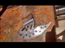 Machado feito de disco de freio! Ax made of disc and motorcycle brake!