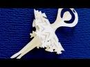DIY. Как просто сделать Снежинку- Балеринку из бумаги. Поделки на Новый Год своими ...