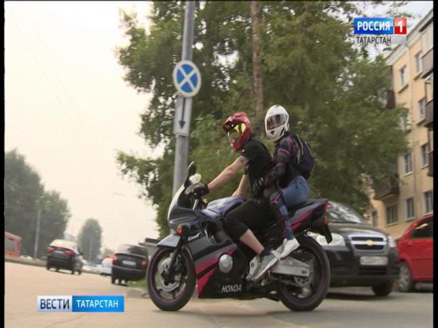 В Казани проводится всероссийская акция «Внимание - мотоциклист!» 2017 Телеканал ТНВ