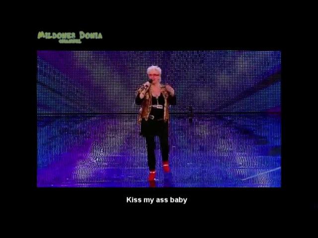 Kelly Fox ~ Kiss my ass ~ Britain's Got Talent 2013