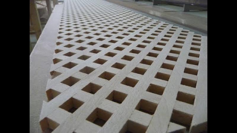 Изготовление деревянной решетки (обычная)