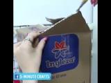 Башенка-лабиринт из картонных коробок для развлечения домашних любимцев! 😸👍))