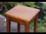 Покраска табурета лакоморилкой для древисины на 1 слой. Цвет