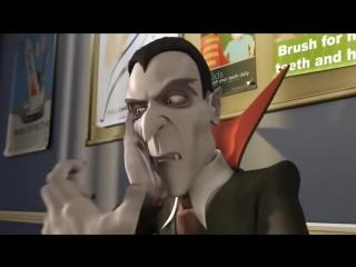 Короткометражные мультфильмы. Дракула и Ван Хельсинг. Новая история