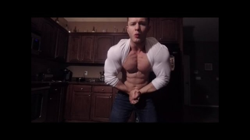 Steel Muscle Flexing Big Boy Muscles with Sexy Cocky Posing