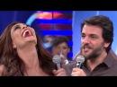 Juliana Paes e Rodrigo Lombardi se divertem no Divã do Faustão 26 03 2017