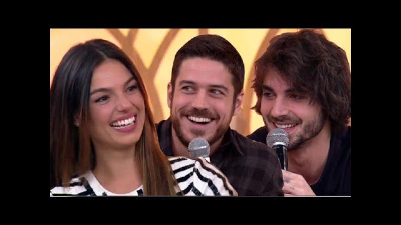 Isis Valverde é disputada em trio romântico com Fiuk e Marco Pigossi Encontro Fatima Bernardes