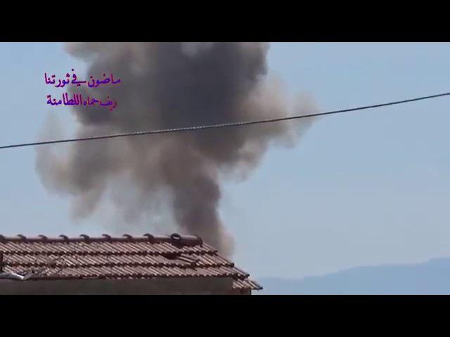 Сирия 26 03 2017 Авиаудар объемно детонирующей бомбой по бармалеям в городе Аль Лат