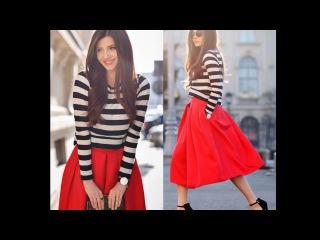 Как сочетать цвета в одежде: красный и чёрный