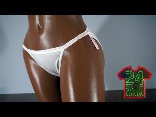 Обзор оригинальных трусиков Victoria's Secret String Bikini, White DK9