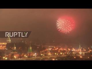 Эпичный Новогодний фейерверк в Москве. Новый 2017 Год Салют С новым Годом, С Новым Счастьем