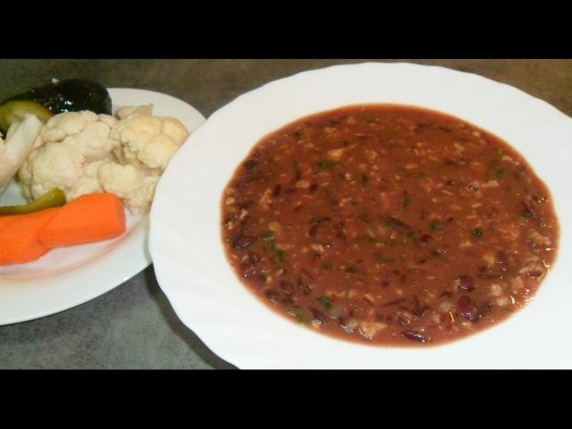 Лобио суп из красной фасоли с грецкими орехами рецепт от Inga Avak