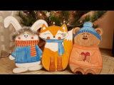 Cardboard toys DIY. Christmas cardboard decor, giant toy craft.