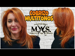 Tutorial Cabello cobrizo y mechas rubias. Cooper Blondy Hair & highlights Hair Tutorials paso a paso